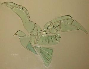 Dove made of glass