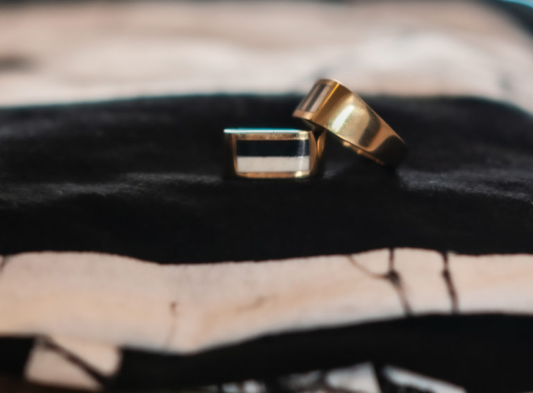 Men's striped ring